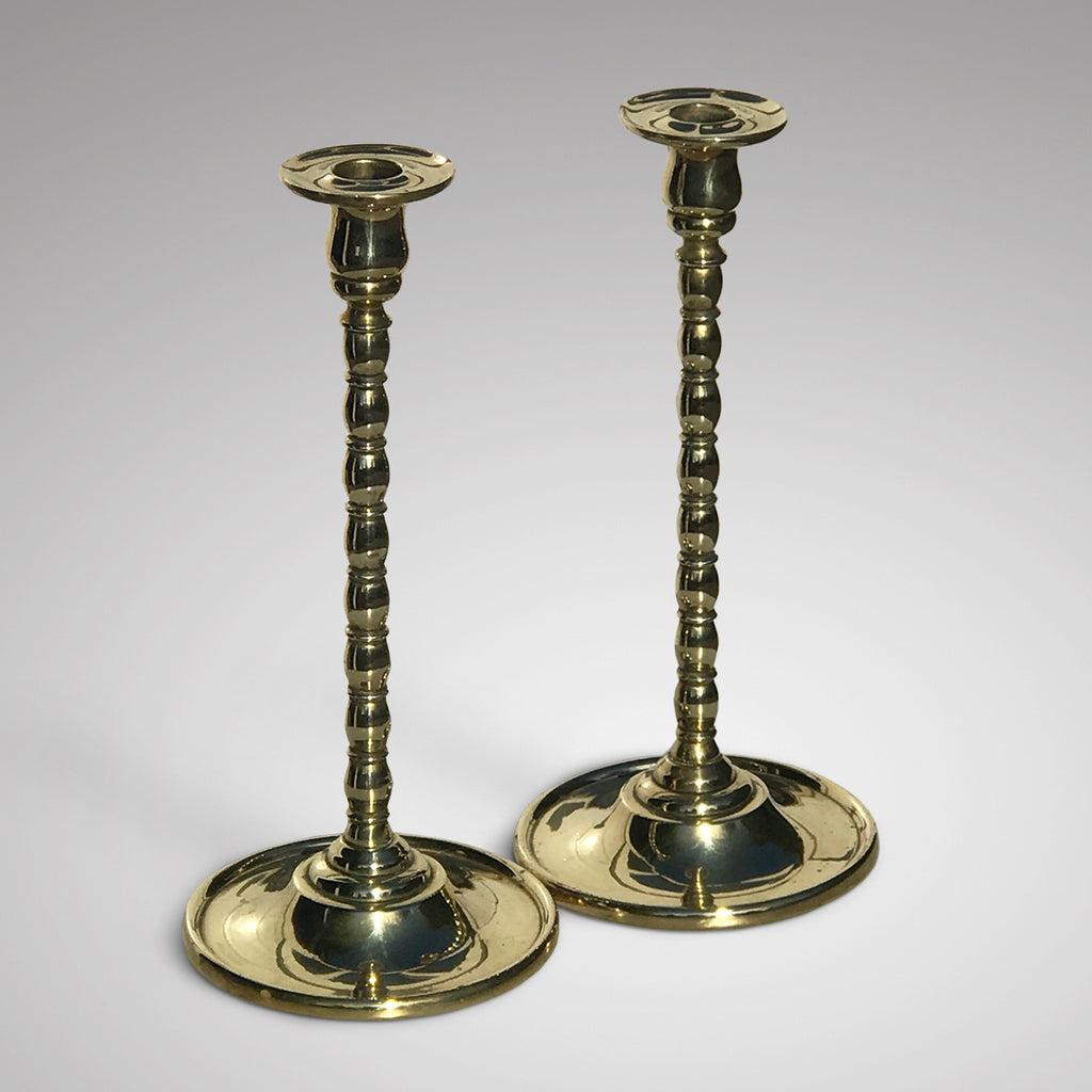 Pair of 19th Century Brass Candlesticks - Main View - 1