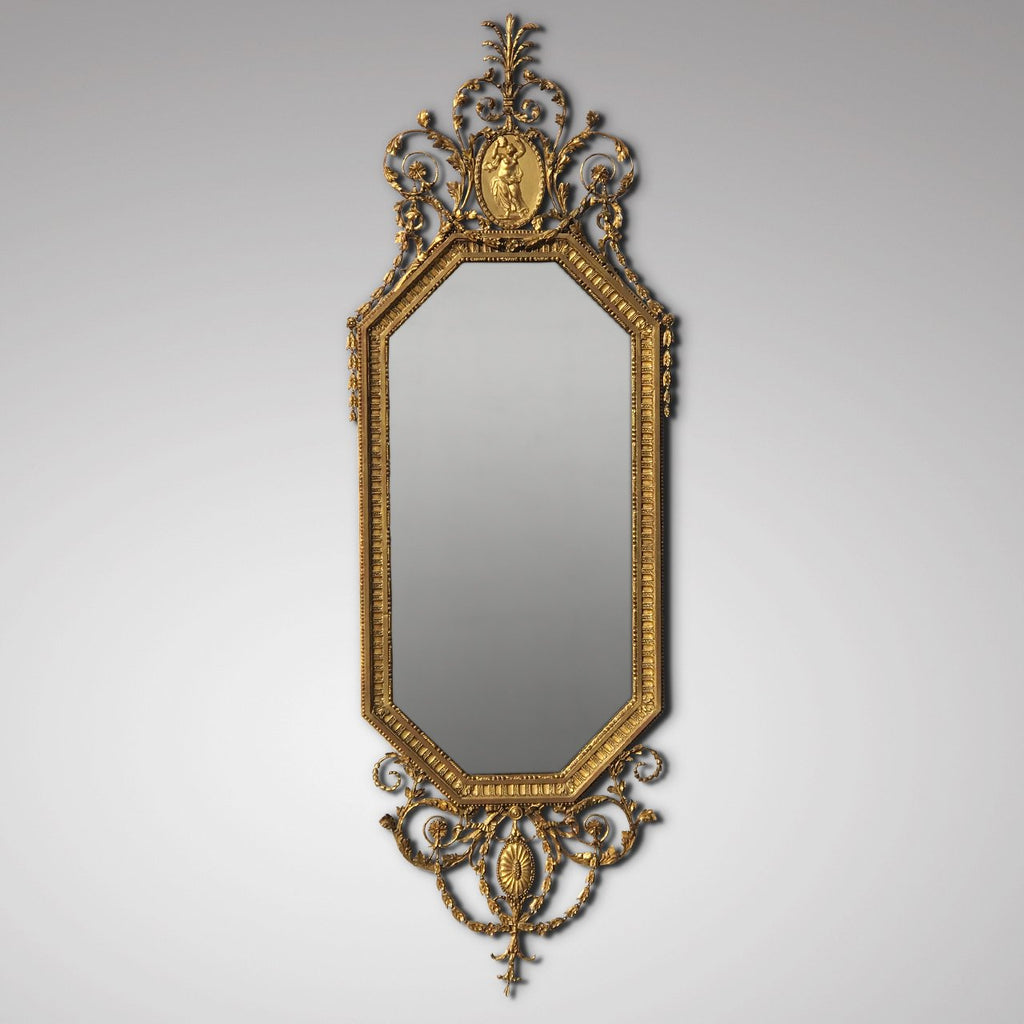19th Century Gilt Mirror in the Adam Style - Main View - 2