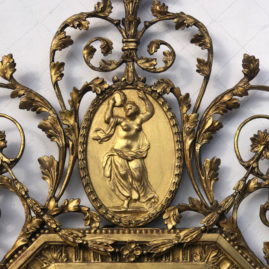 19th Century Gilt Mirror in the Adam Style - Detail View - 5