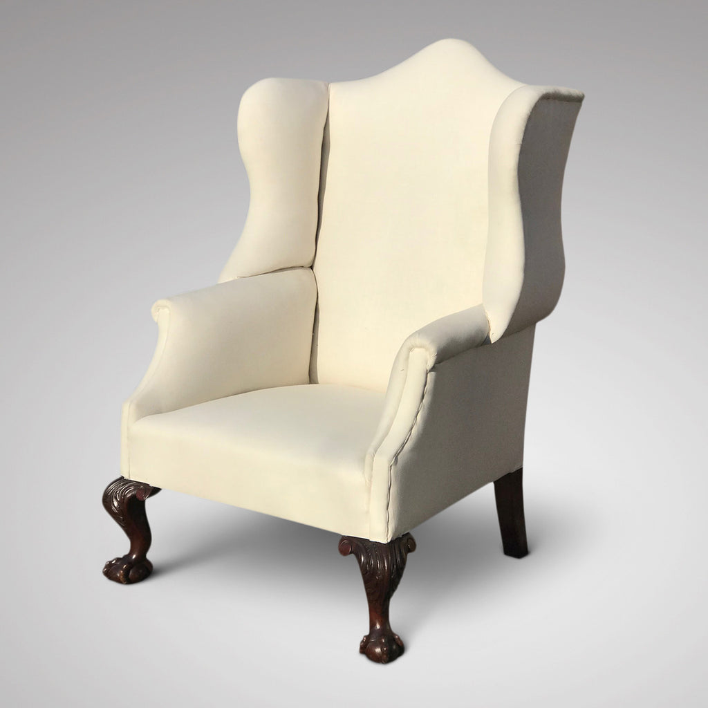 George III Camel Back Armchair - Front and Side View - 1