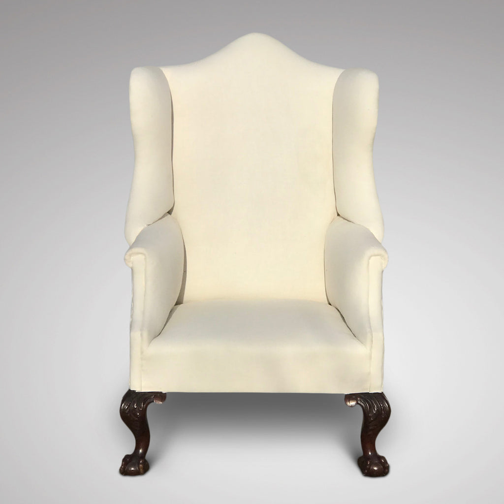 George III Camel Back Armchair - Front View - 2