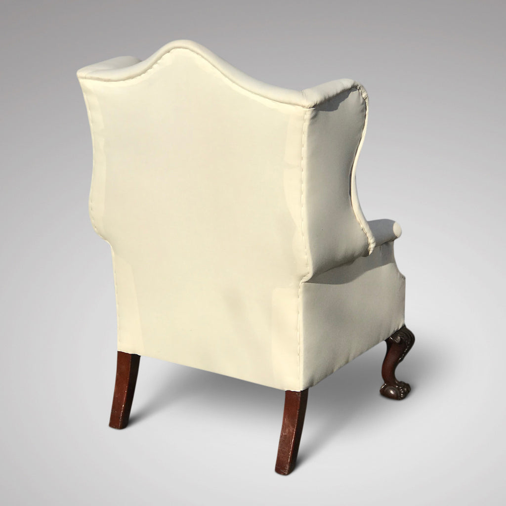 George III Camel Back Armchair - Back and Side View - 3