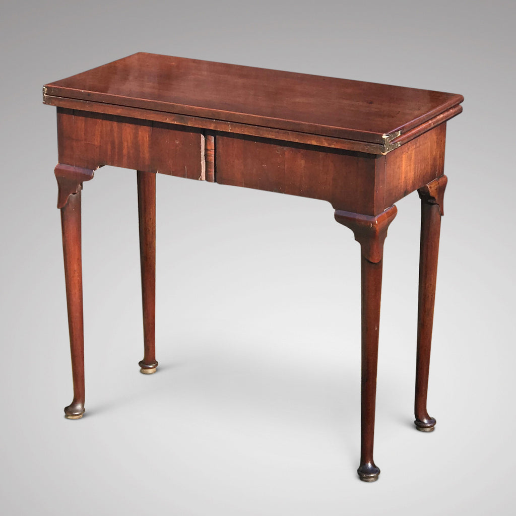 George II Mahogany Tea Table - Back View - 3