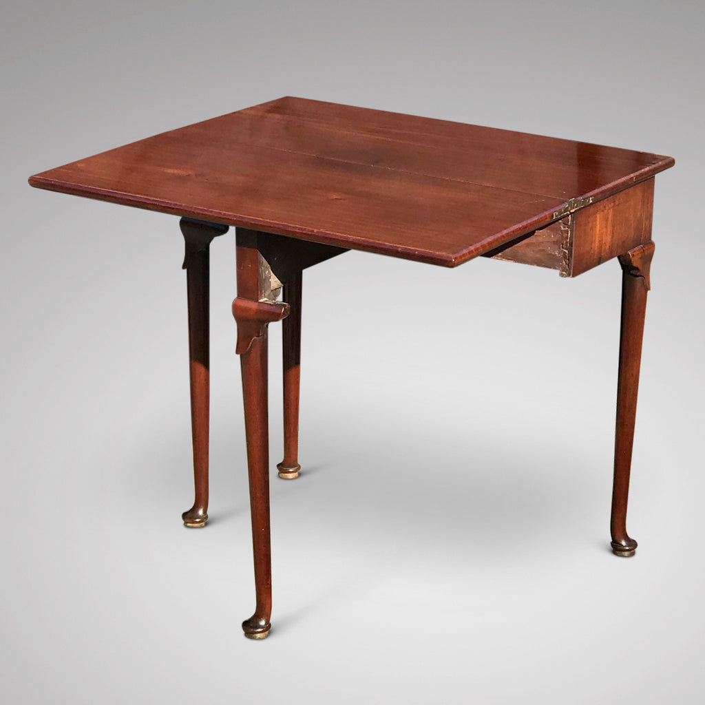 George II Mahogany Tea Table - Open View - 2