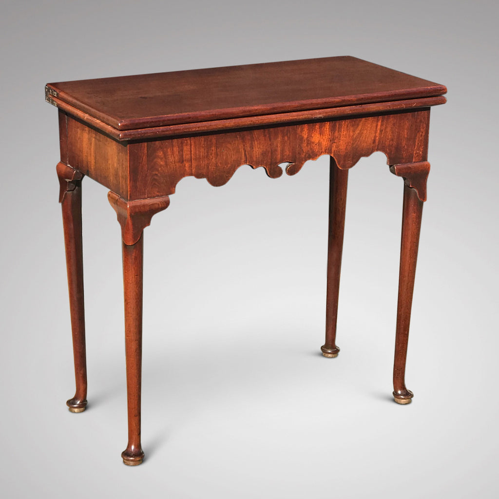 George II Mahogany Tea Table - Front & Side View - 1