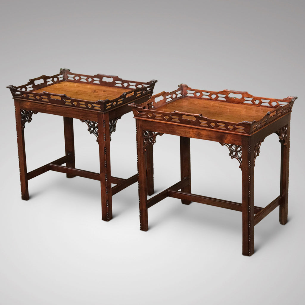 A Pair of Early 20th Century Mahogany Side Tables - Main View -1