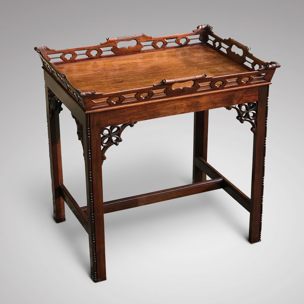 A Pair of Early 20th Century Mahogany Side Tables - Main View - 2