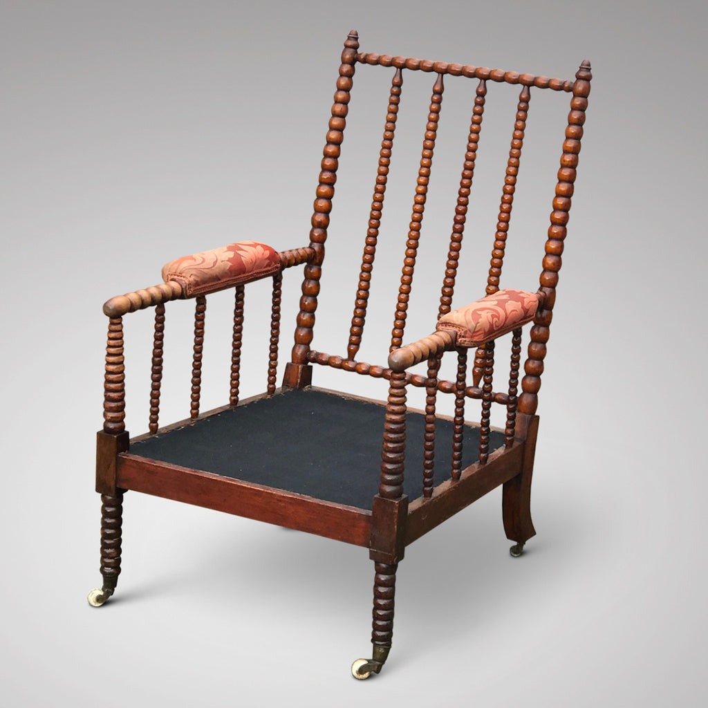 William IV Mahogany Bobbin Turned Armchair - Detail View - 3