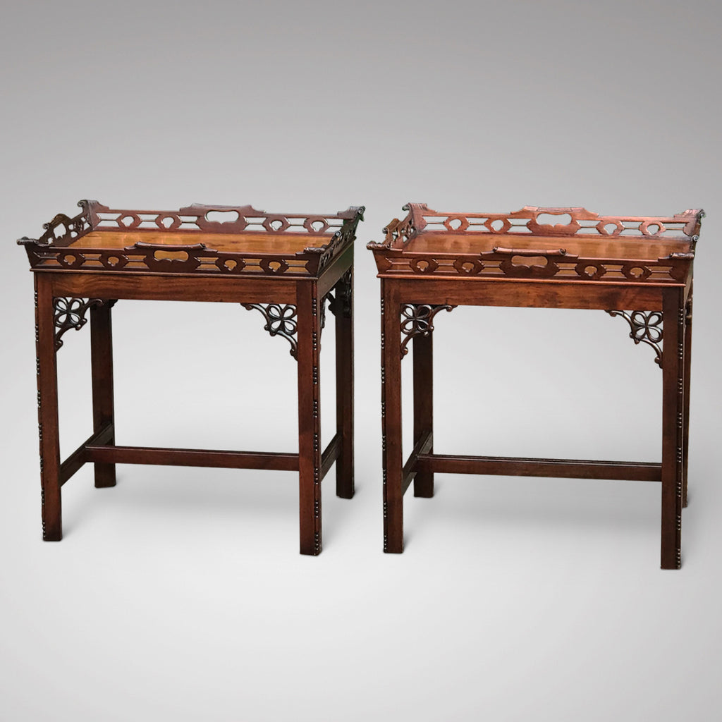 A Pair of Early 20th Century Mahogany Side Tables - Main View - 3