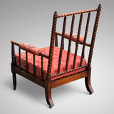 William IV Mahogany Bobbin Turned Armchair - Back View - 2
