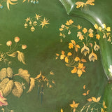 Victorian Green Papier Mache Tray - Detail View - 2