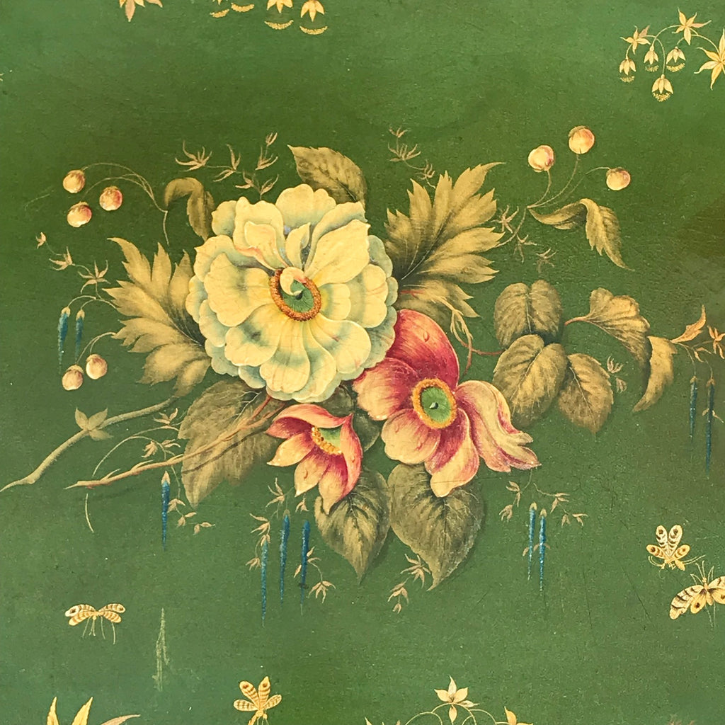 Victorian Green Papier Mache Tray - Detail View - 3