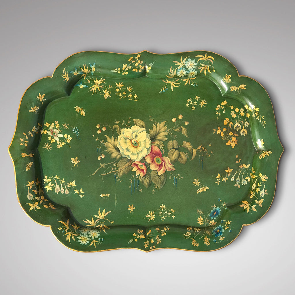 Victorian Green Papier Mache Tray - Main View - 1