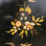 Victorian Papier Mache Tray Inlaid with Mother of Pearl - Inlay View - 2