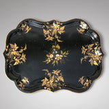 Victorian Papier Mache Tray Inlaid with Mother of Pearl - Main View - 1