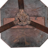 George II Octagonal Oak & Fruitwood Pillar Table - Underside View - 3