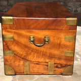 19th Century Camphor Wood Campaign Trunk - Side View - 3
