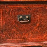 Victorian Red Scumble Painted Blanket Box - Side View - 3