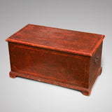 Victorian Red Scumble Painted Blanket Box - Main View - 1