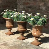 Trio of 19th Century Cast Iron Urns - Main View - 1