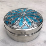 Silver & Enamel Pill Box by Lawrence Emanuel - Main View -2