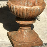 Trio of 19th Century Cast Iron Urns - Detail View - 3
