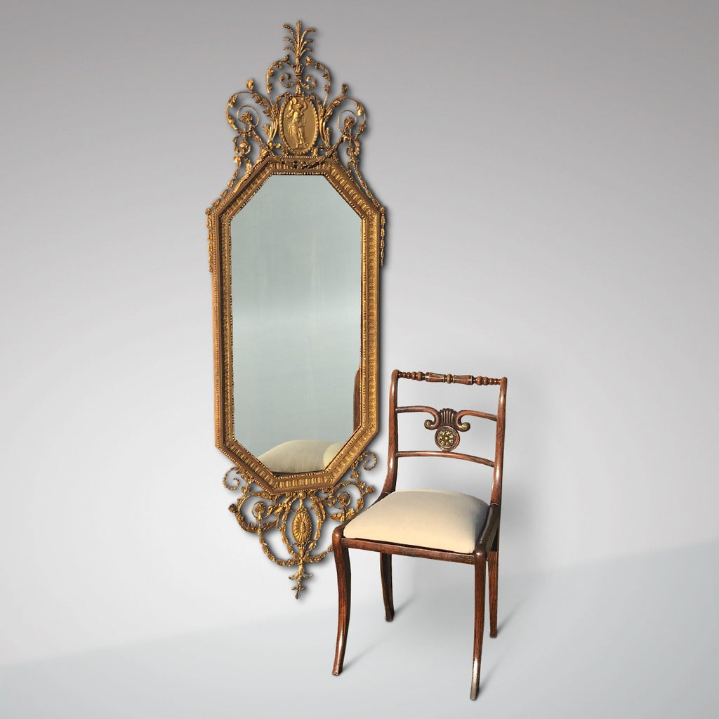 19th Century Gilt Mirror in the Adam Style - Main View - 1