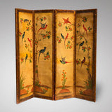 19th Century Painted Leather Screen - Main View - 2
