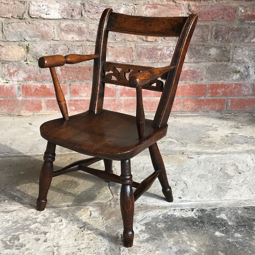 Late 18th Century Welsh Child's Elm & Ash Armchair - Main View - 2