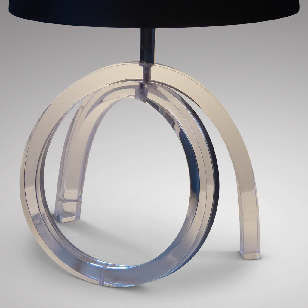 Lucite Table Lamp - Front View-1