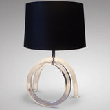 Lucite Table Lamp - Front View -2
