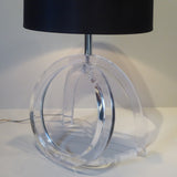 Lucite Table Lamp - Front View-3