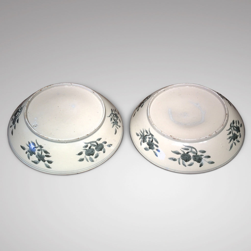 Pair of 18th Century Chinese Swatow Dishes - Back View-6