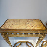Pair of  Antique Giltwood Tables - Top Detail view - 4