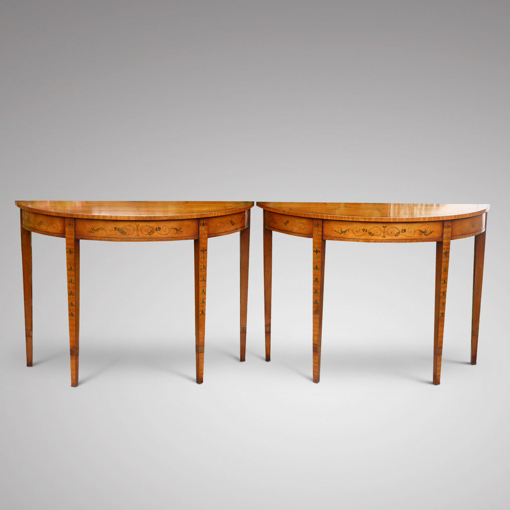 Pair of Edwardian Demi Lune Tables - Hobson May Collection - 1