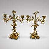 Pair of French Louis Phillipe Candelabra - Front View One