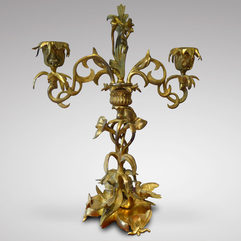 Pair of French Louis Phillipe Candelabra - Front View Two