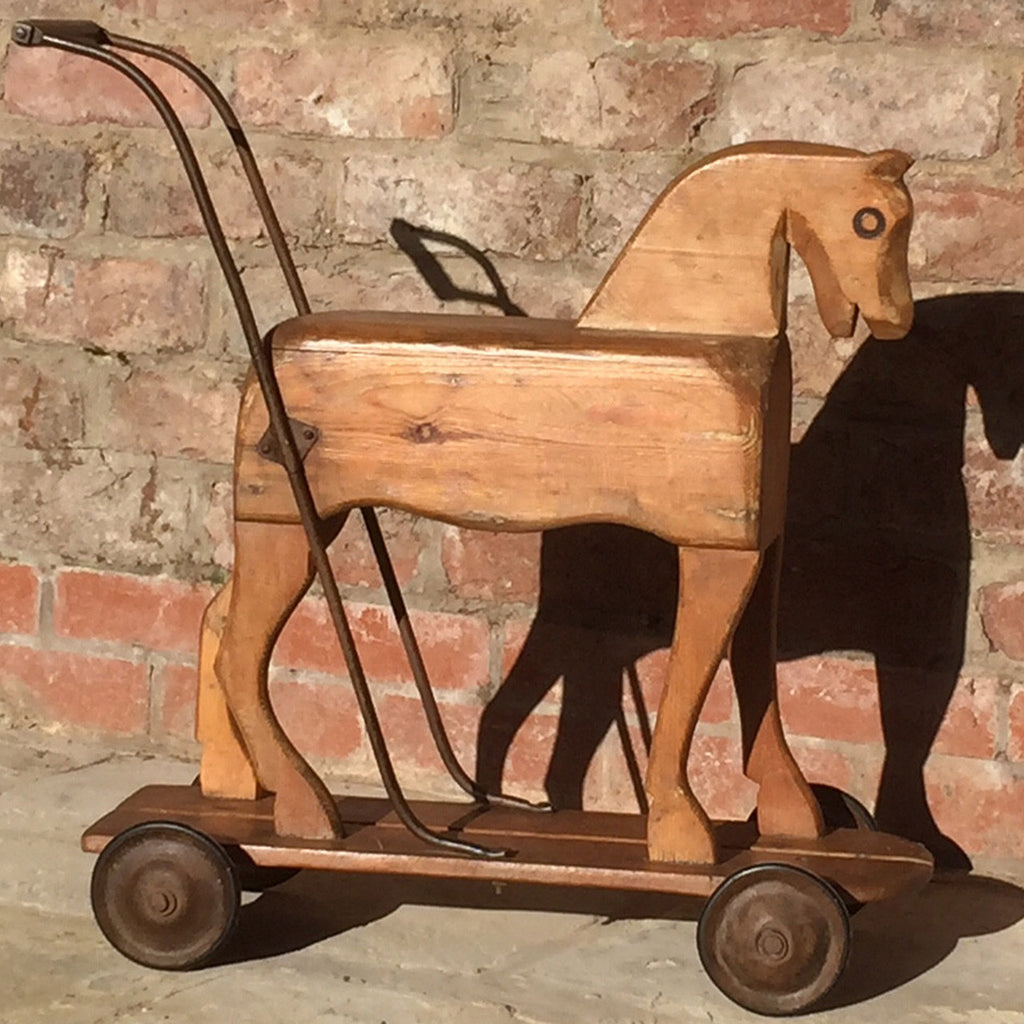 Victorian Pine Toy Horse - Side View One
