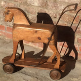 Victorian Pine Toy Horse - Side View Two