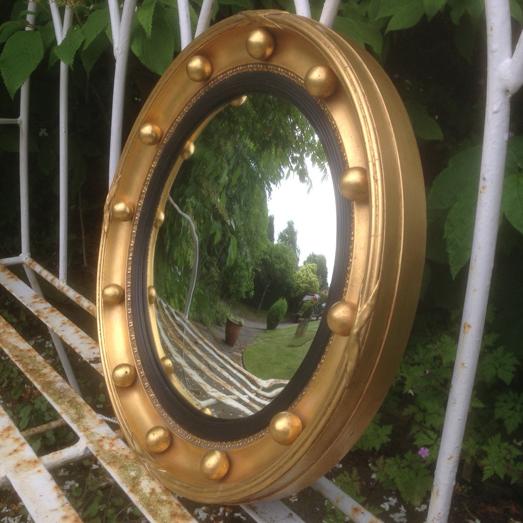 Late 19th Century Convex Mirror - View of unedited glass - 1