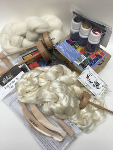 Spinning, Dyeing, and Felting