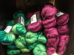 Knitting fever yarn skeins