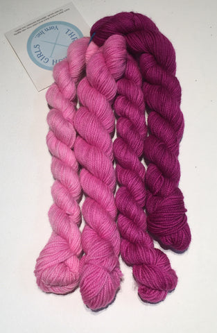 Mini-Skein set of Adorn Sock, by Three Irish Girls