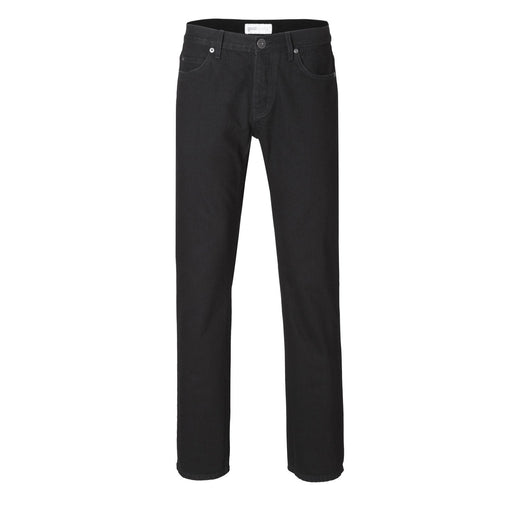 Mens Straight Jeans - Black One Wash