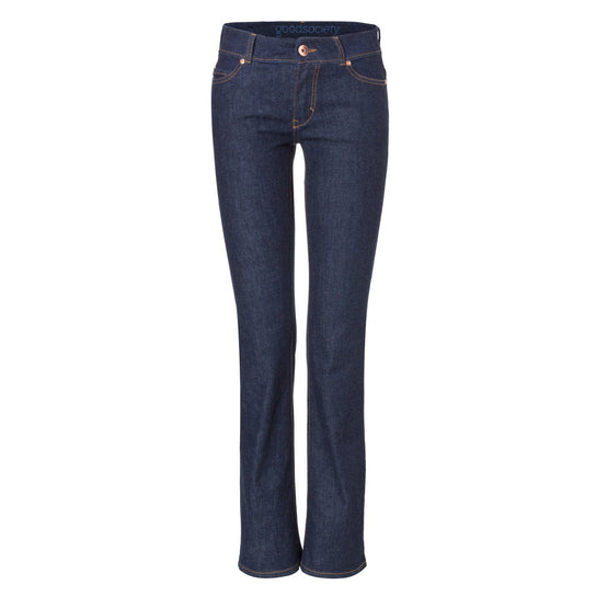 Jeans - Womens Bootcut Jeans - Raw One Wash