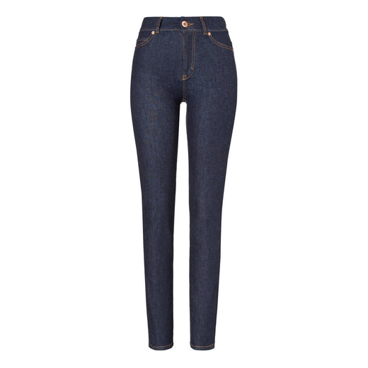 Womens High Rise Slim Jeans - Raw One Wash