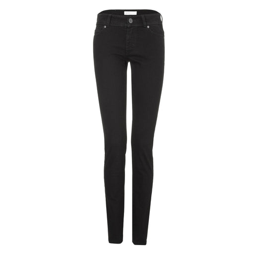 Jeans - Womens Slim Jeans - Black One Wash