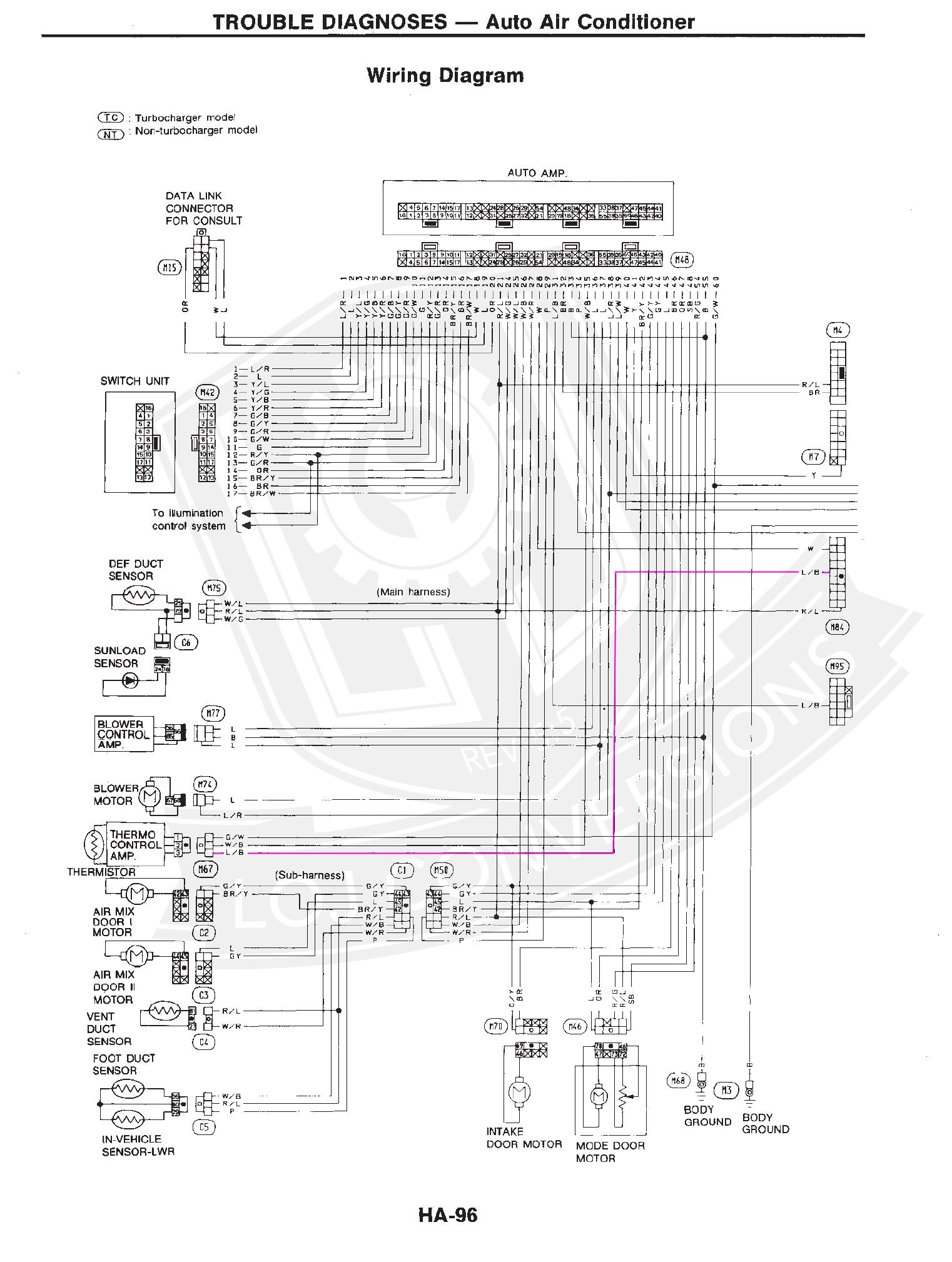 nissan note e wiring diagram nissan image wiring wiring the ac in a 300zx engine conversion loj conversions on nissan note e12 wiring diagram