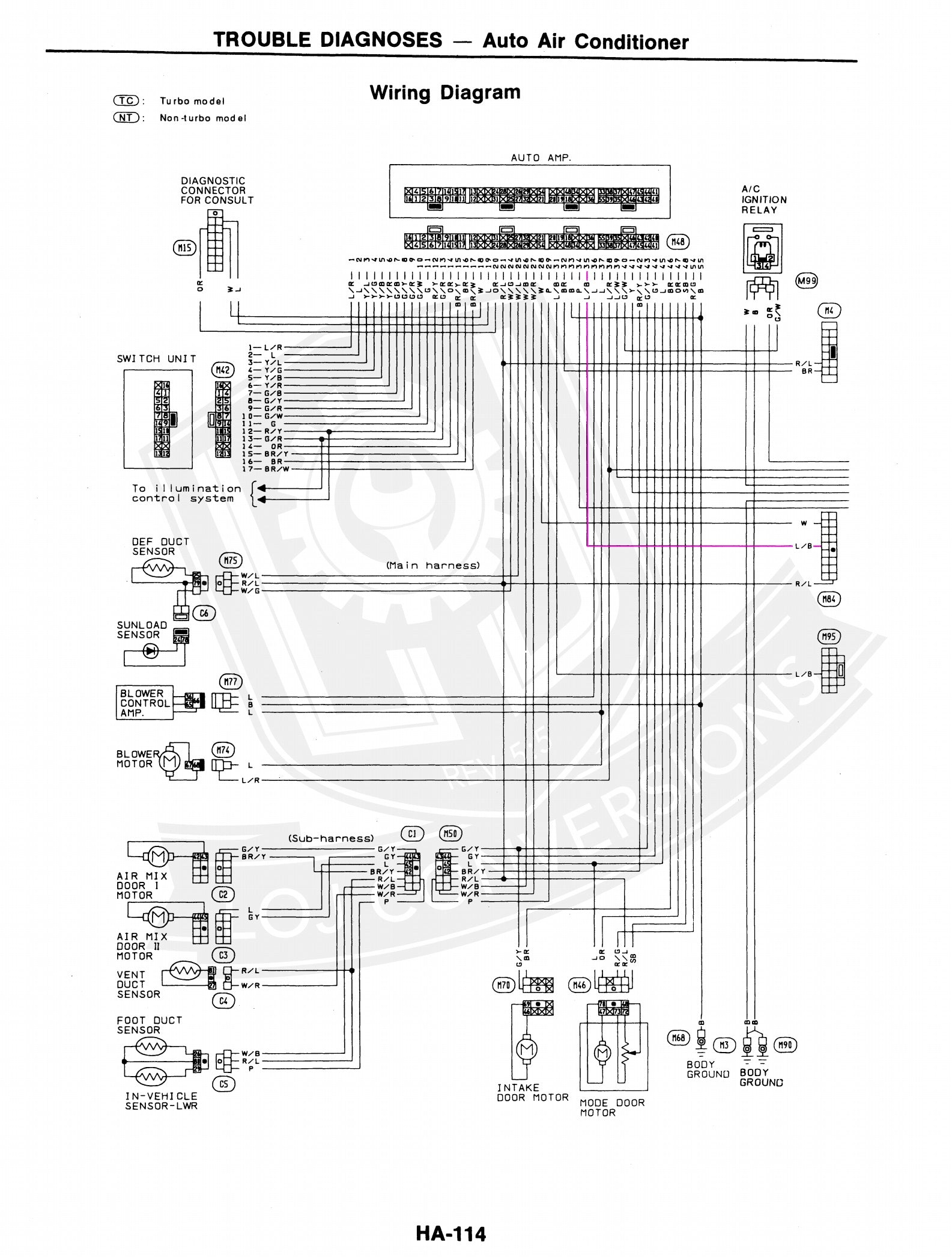 wiring the ac in a 300zx engine conversion loj conversions rh lojkits com 1990 Nissan 300ZX Wiring-Diagram 1990 300Zx Engine Wiring Diagram