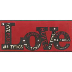 1 Corinthians 13:7 Love Tin Sign